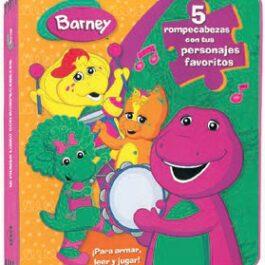 Barney Jugando con mis Amigos. Rompecabezas en Goma Eva